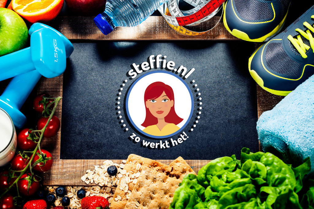 Steffie helps choosing healthy food supported by a game. She also inspires people to exercise.